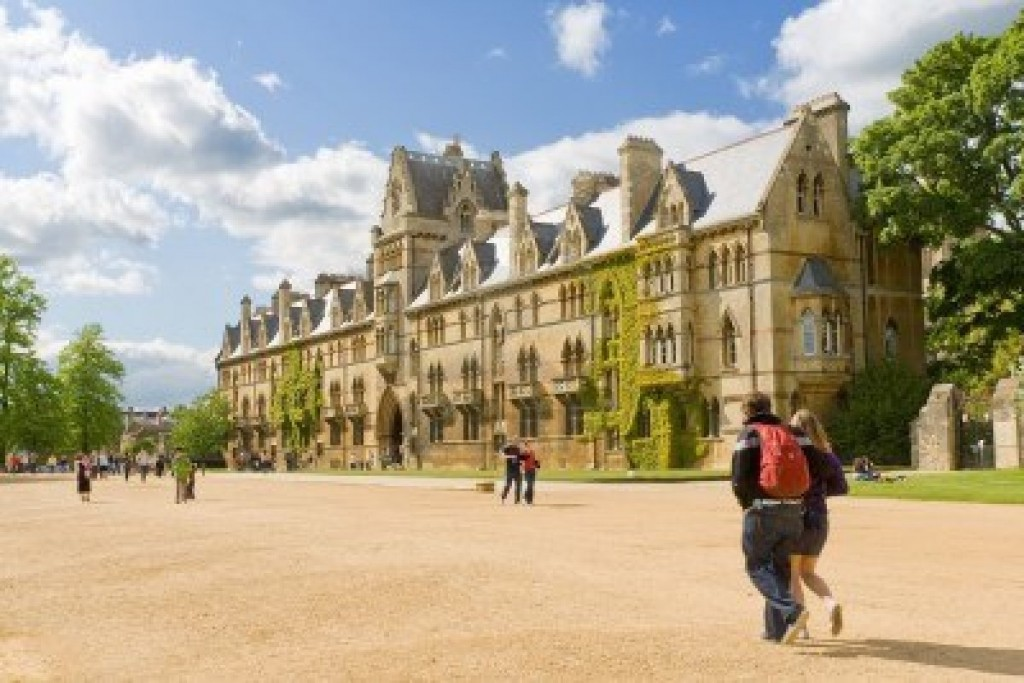 Oxford, studenti alla Christ Church