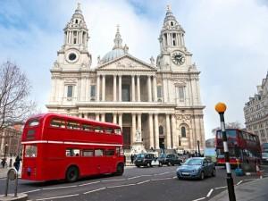 Bus rossi a due piani a Londra