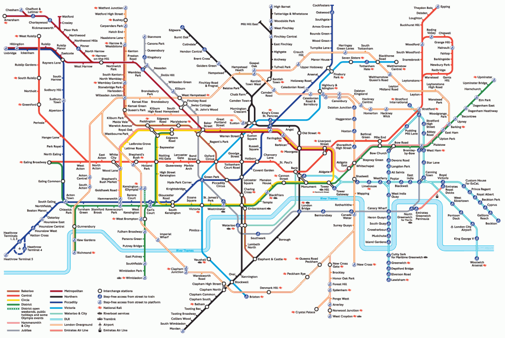 London Underground: clicca per ingrandire
