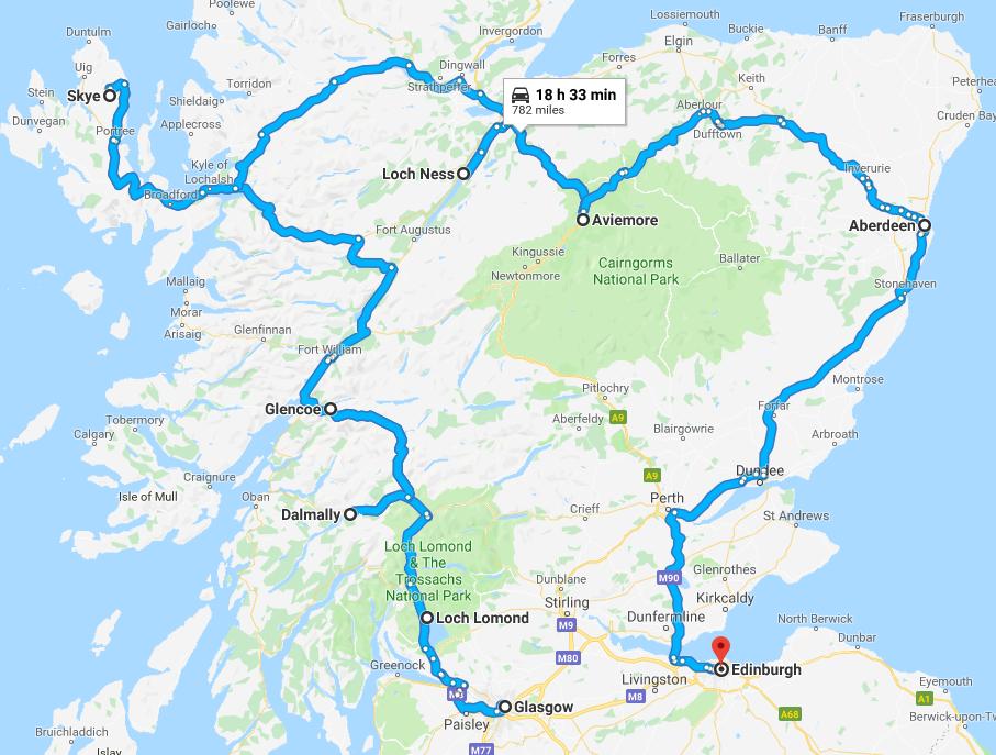 Itinerario Tour Scozia Classica 8 giorni