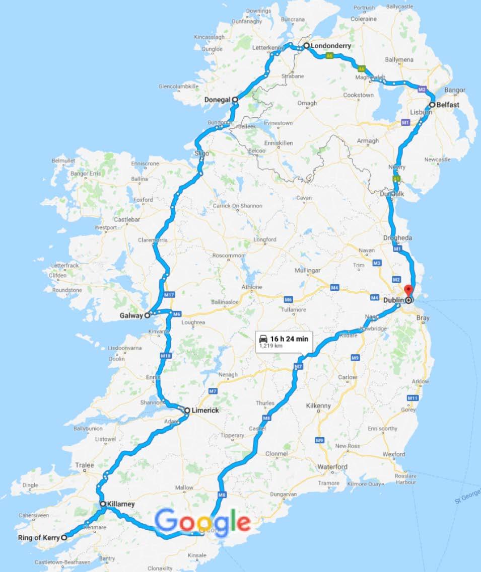 Cartina Politica Dell Irlanda.Grantour In Auto Dell Irlanda 13 Giorni 12 Notti Holidays Empire