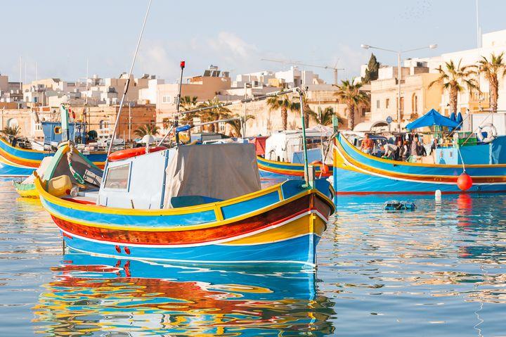 La tipica barca a Malta:  la dghajsa